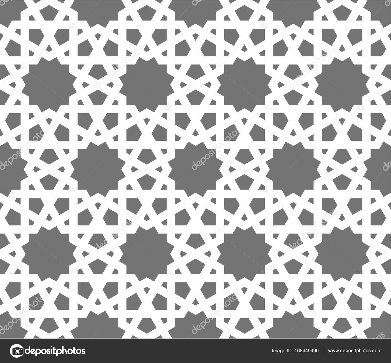 islamic seamless vector pattern white geometric ornaments based on traditional arabic art oriental muslim mosaic turkish arabian moroccan design on a dark background mosque decoration element stock vector c midsummerday 168449490 depositphotos