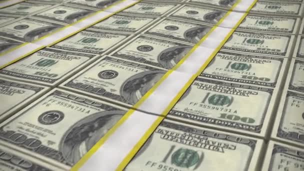 Mnoho 100 dolarové bankovky. Peníze jako pozadí