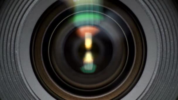 Nahaufnahme eines photographischen Objektivs