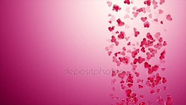Gyönyörű rózsaszín háttér alá tartozó hearts a Valentin-nap