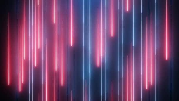 Červená modrá neonová animované pozadí Vj
