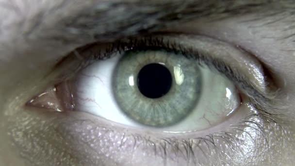 Männliche grüne Augen