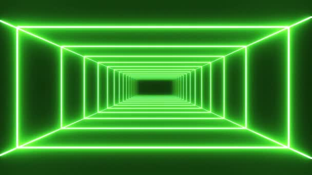 Loop zelený neon tunelu pozadí