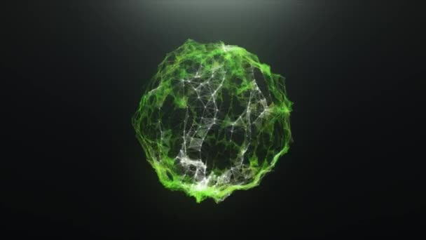 Green abstract ball virus of plexus