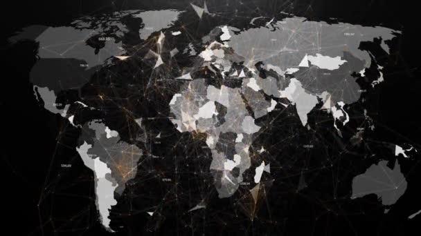 Abstraktní obraz globální sítí na světě v podobě plexus