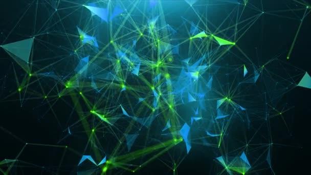 Zeleno modré abstraktní pozadí plexus