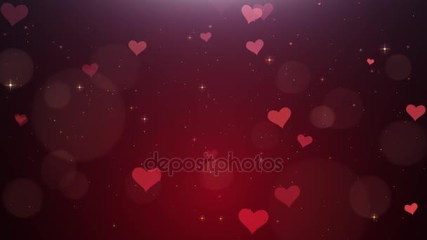 Romantické pozadí červené srdce