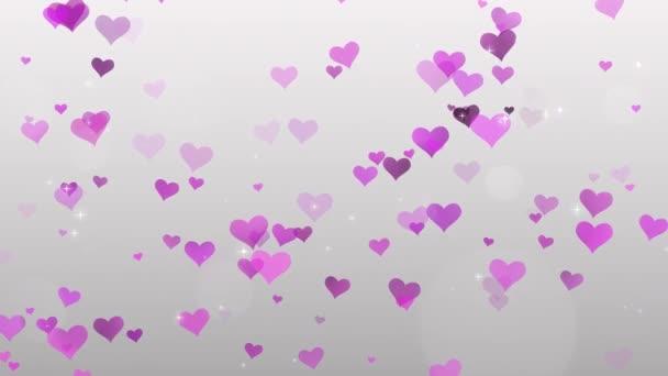 růžové srdce na bílém pozadí