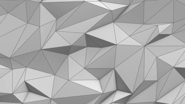 Fehér absztrakt alacsony poly háromszög háttér