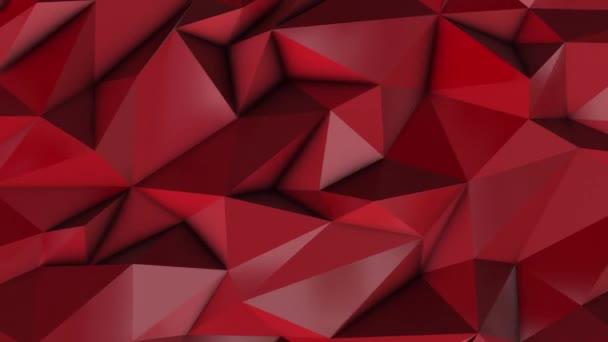 Červené abstraktní nízké poly trojúhelník pozadí