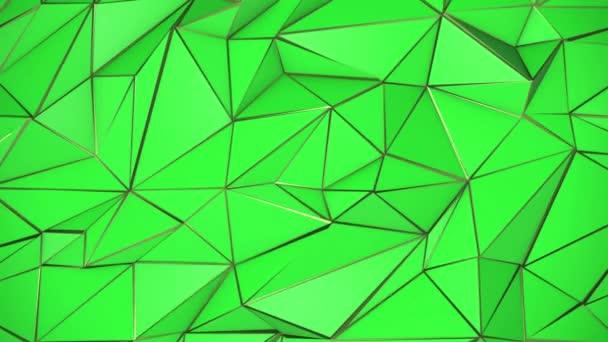 Zelené a zlaté abstraktní pozadí trojúhelník nízké poly