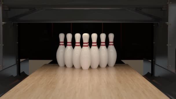 Bowling Strike ve zpomaleném filmu