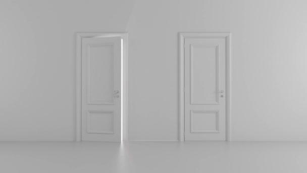 lesk otevřených dveří v světlé místnosti