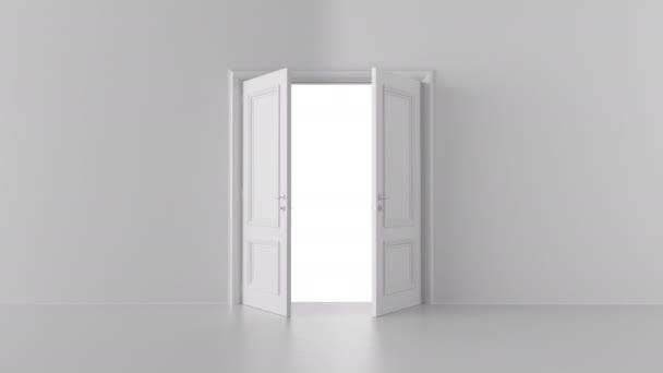 otevřené dveře v světlé místnosti s alfa kanálem