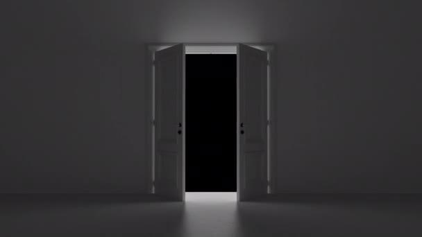 nyitott ajtó sötét szobában alfa csatornával