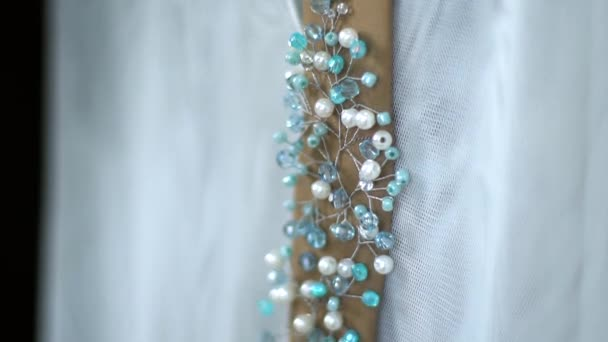 Wedding decoration made of wire and crystal handwork-2