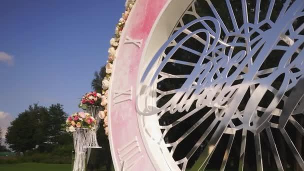 Umělé květiny kytice výzdoba svatební obřad s lehké rozostření pozadí-3