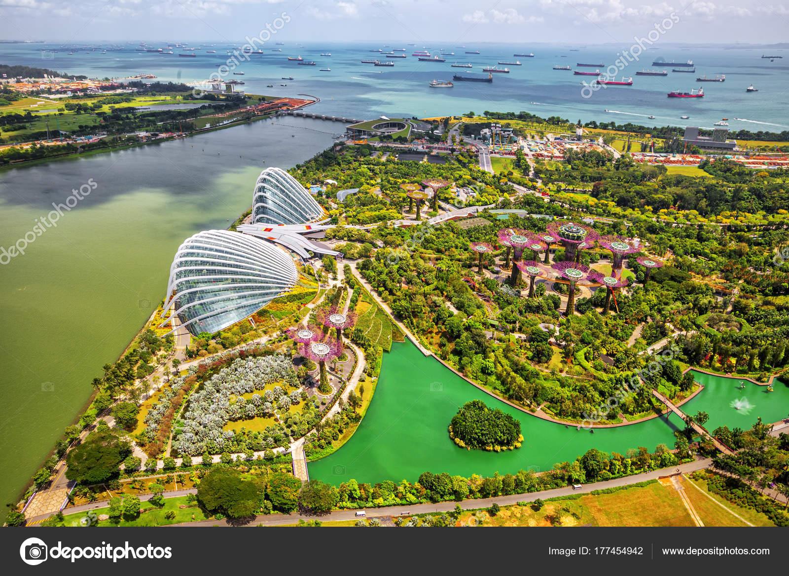 Panorama view of Singapore City skyline in Singapore  – Stock