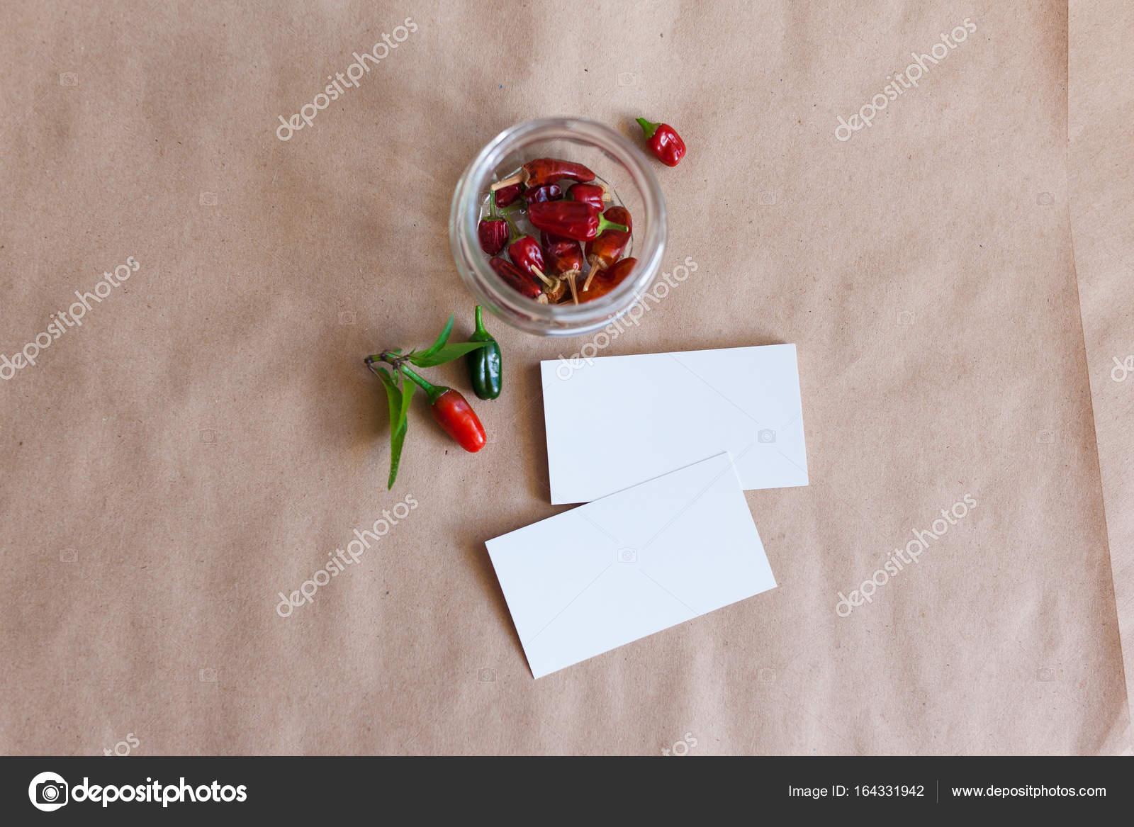 Kraftpapier Und Eine Visitenkarte Attrappe Broschüre Zu