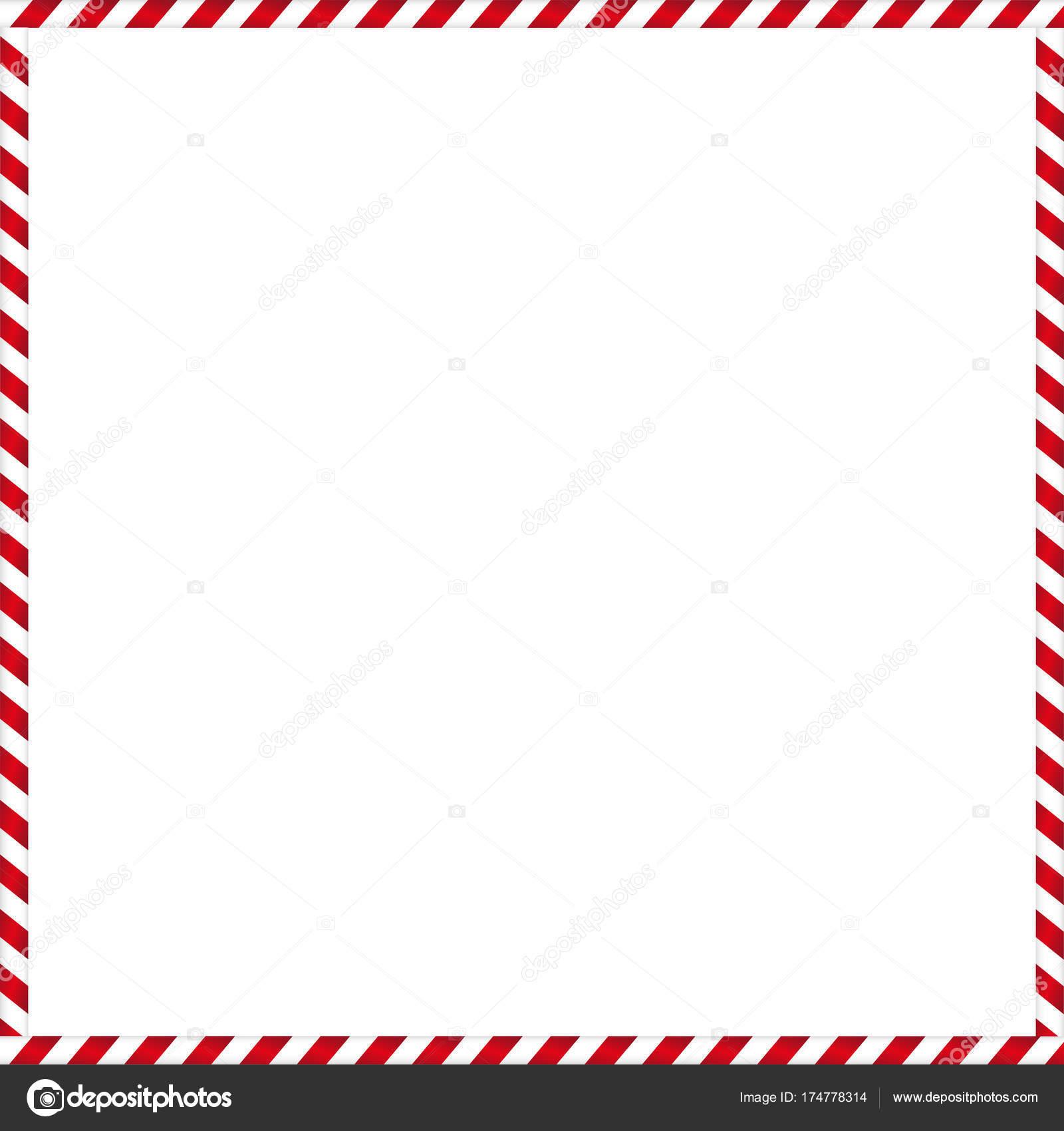 Süße Weihnachten Rahmen mit gestreiften Bonbons Muster — Stockvektor ...