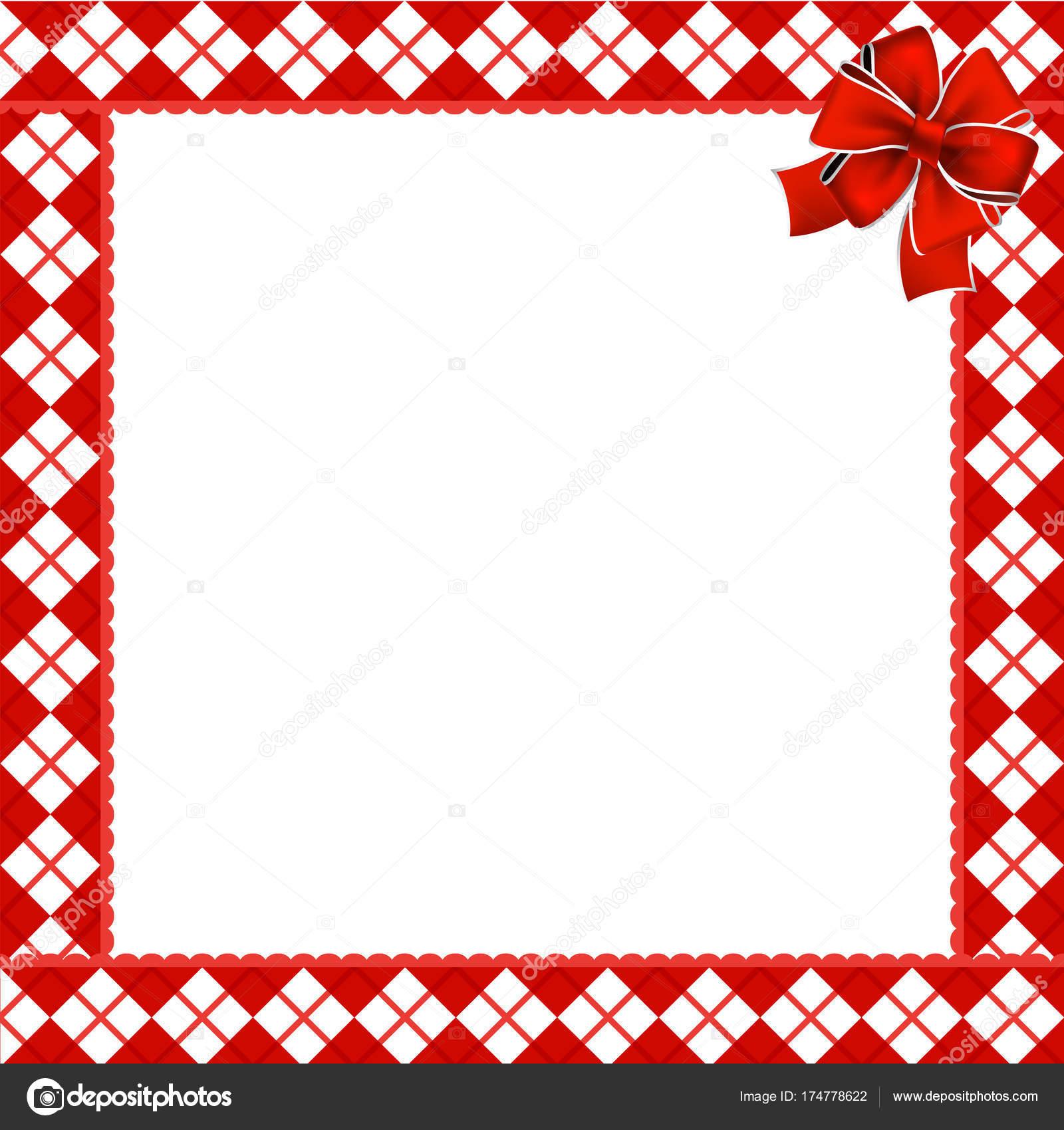Lindo marco de Navidad o año nuevo con patt diamante rojo y blanco ...
