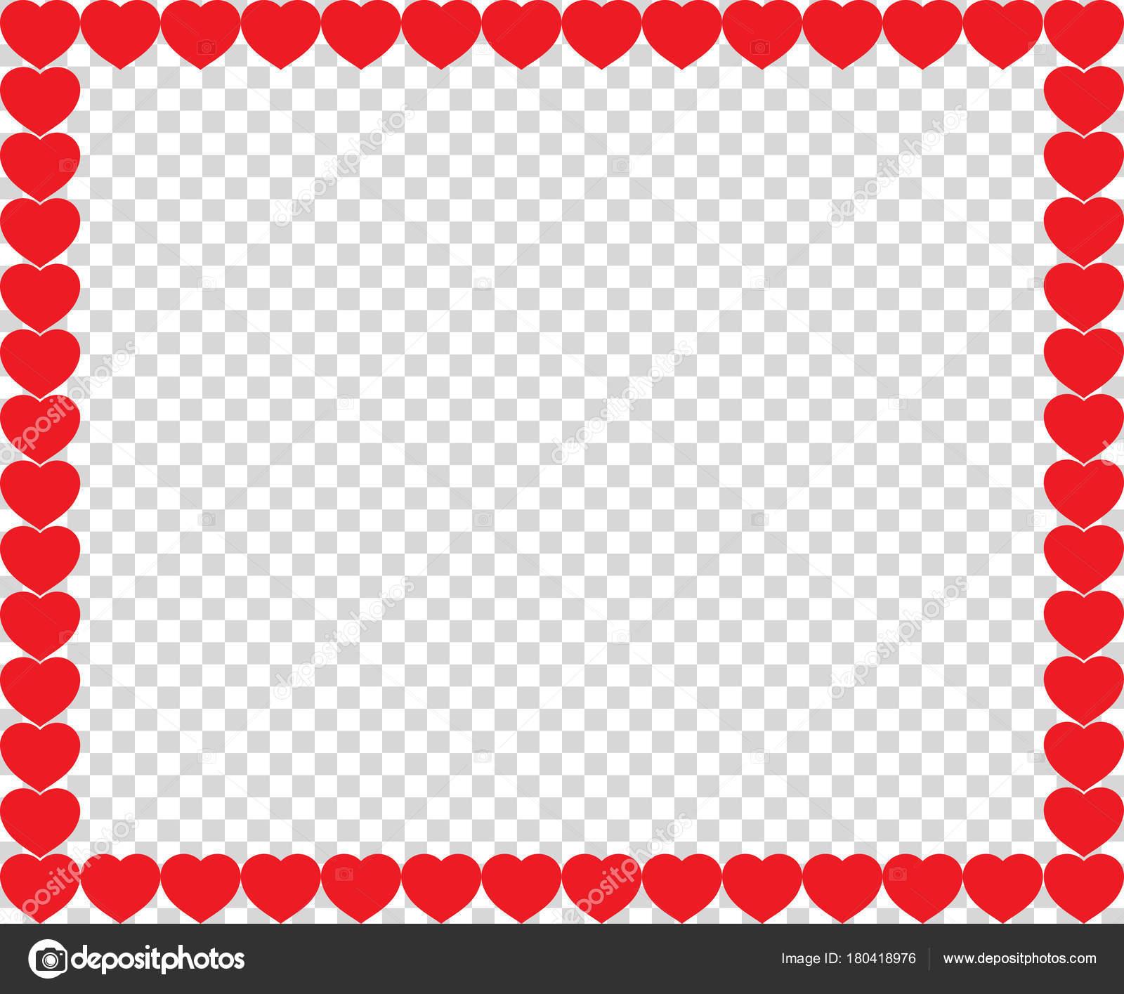 Süße rote Herzen Grenze mit Platz für Text oder Bild — Stockvektor ...
