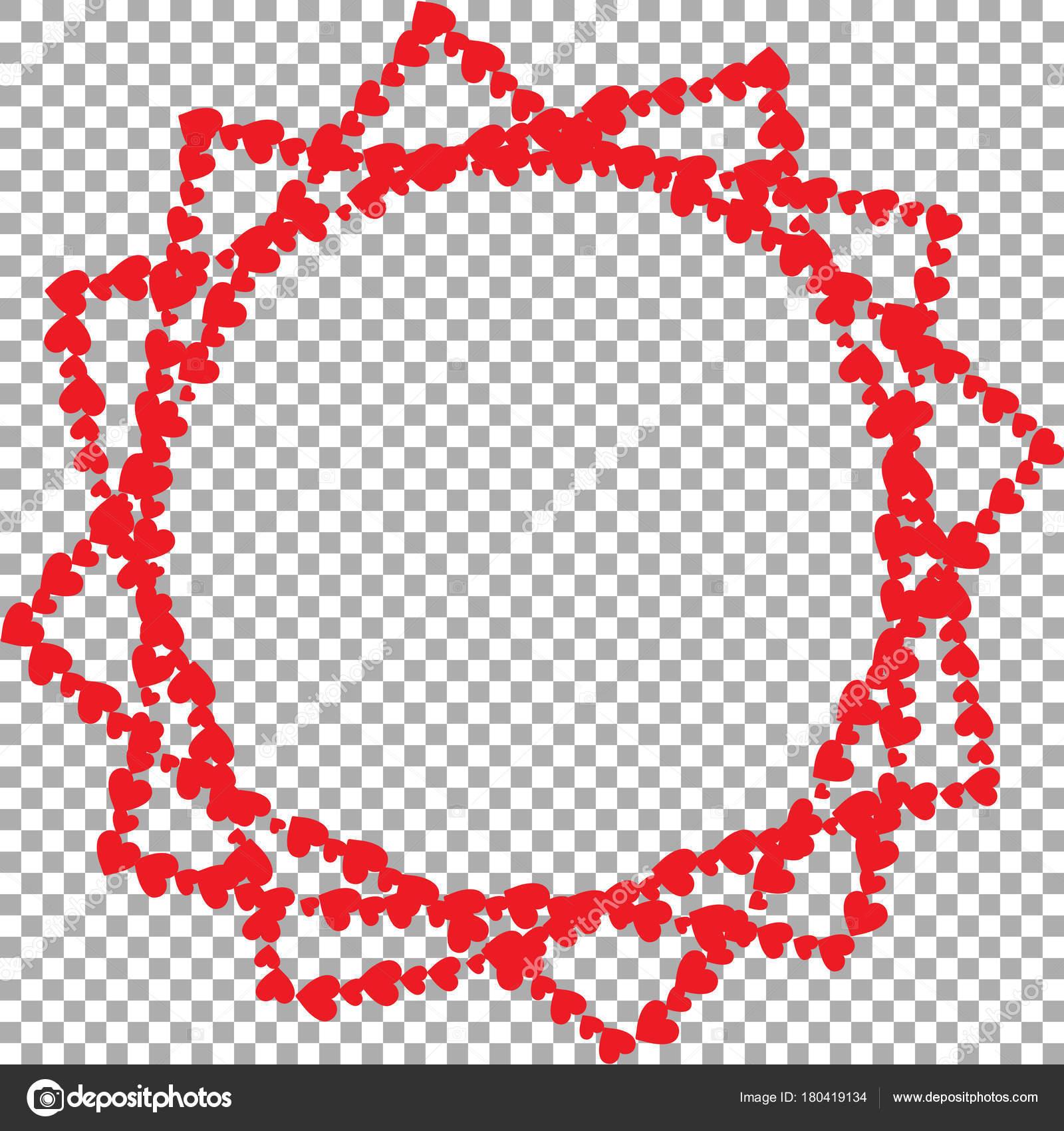Marco en forma de estrella con doce rayos de corazones — Vector de ...