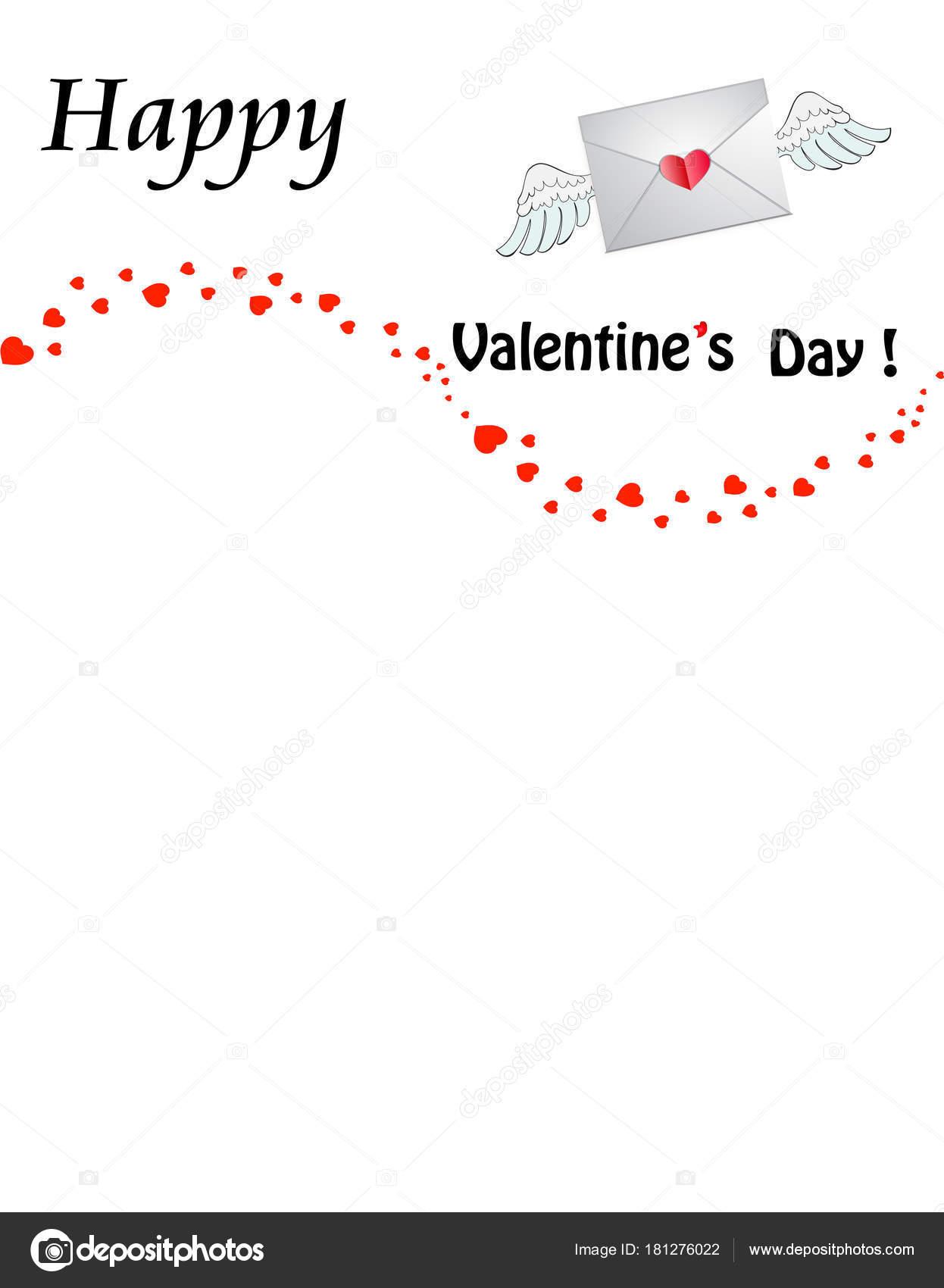 Valentinstag Vorlage Mit Hineingeratst Herzen Frankierten
