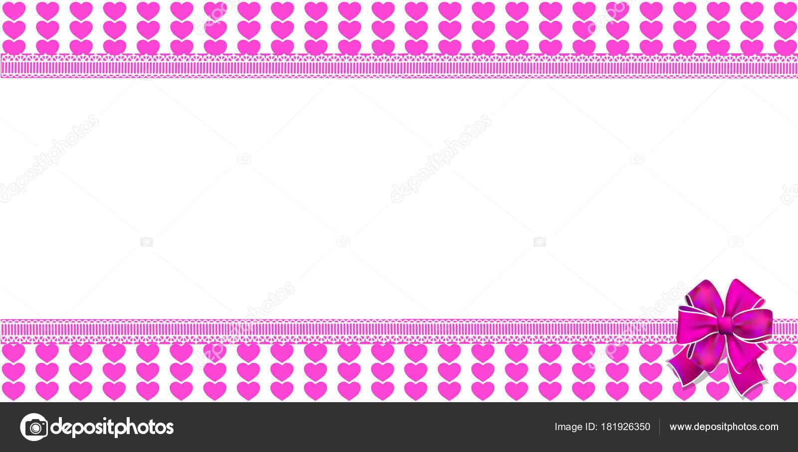 Mignon Modèle Horizontal Avec Un Cœur Rose Rayé Enveloppé