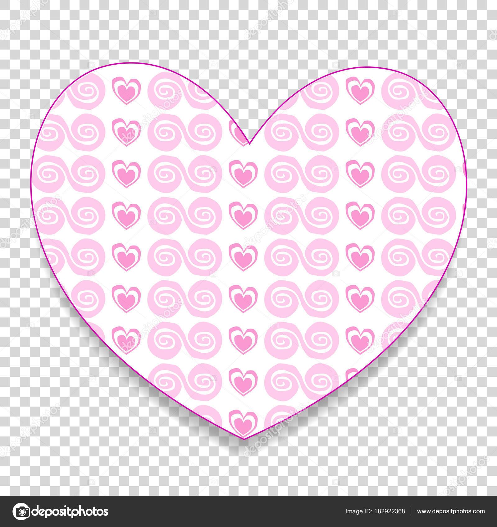 Süße große rosa Papier schneiden Herz Aufkleber mit kleinen Herzen ...