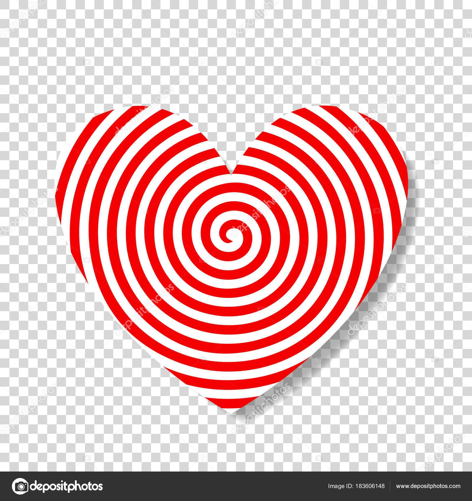 Espiral de hipnosis en forma de corazón — Archivo Imágenes ...