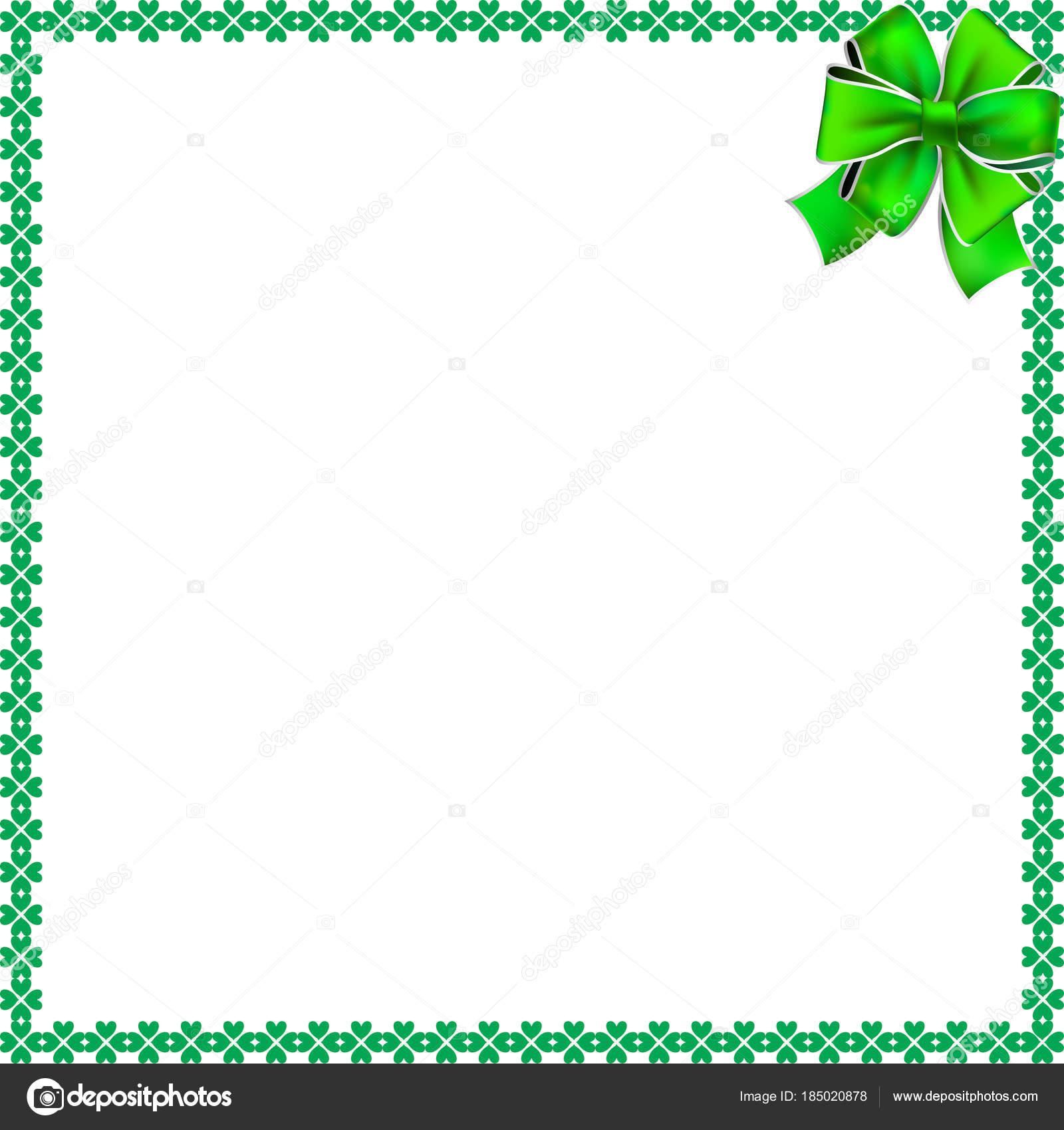 St. Patricks Day elegante Grenze mit Kleeblätter, festliche Bogen ...
