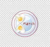 Slavnostní snídaně jídlo nápad pro 8 březen, srdce omeleta klip ar