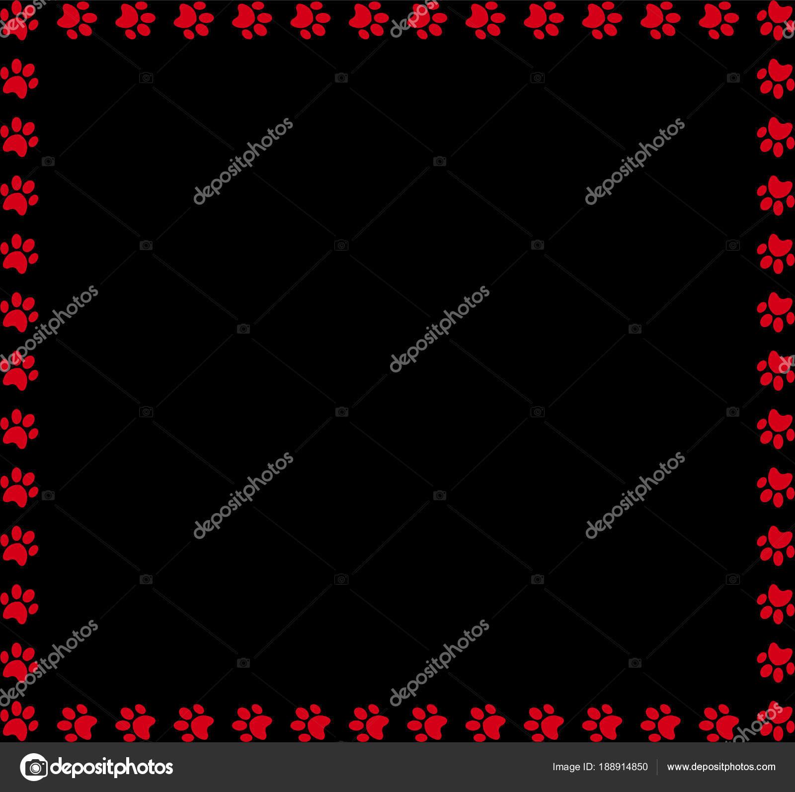 Quadratisches Format gemacht der roten tierischen Pfotenabdrücke auf ...