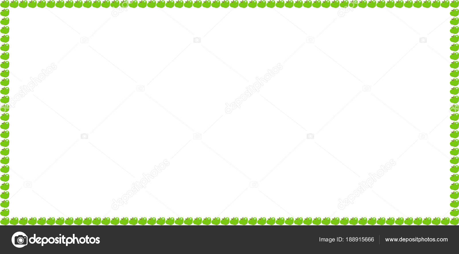 Grüner Apfel Rechteck Billboard Rahmenarbeit mit Platz für text ...