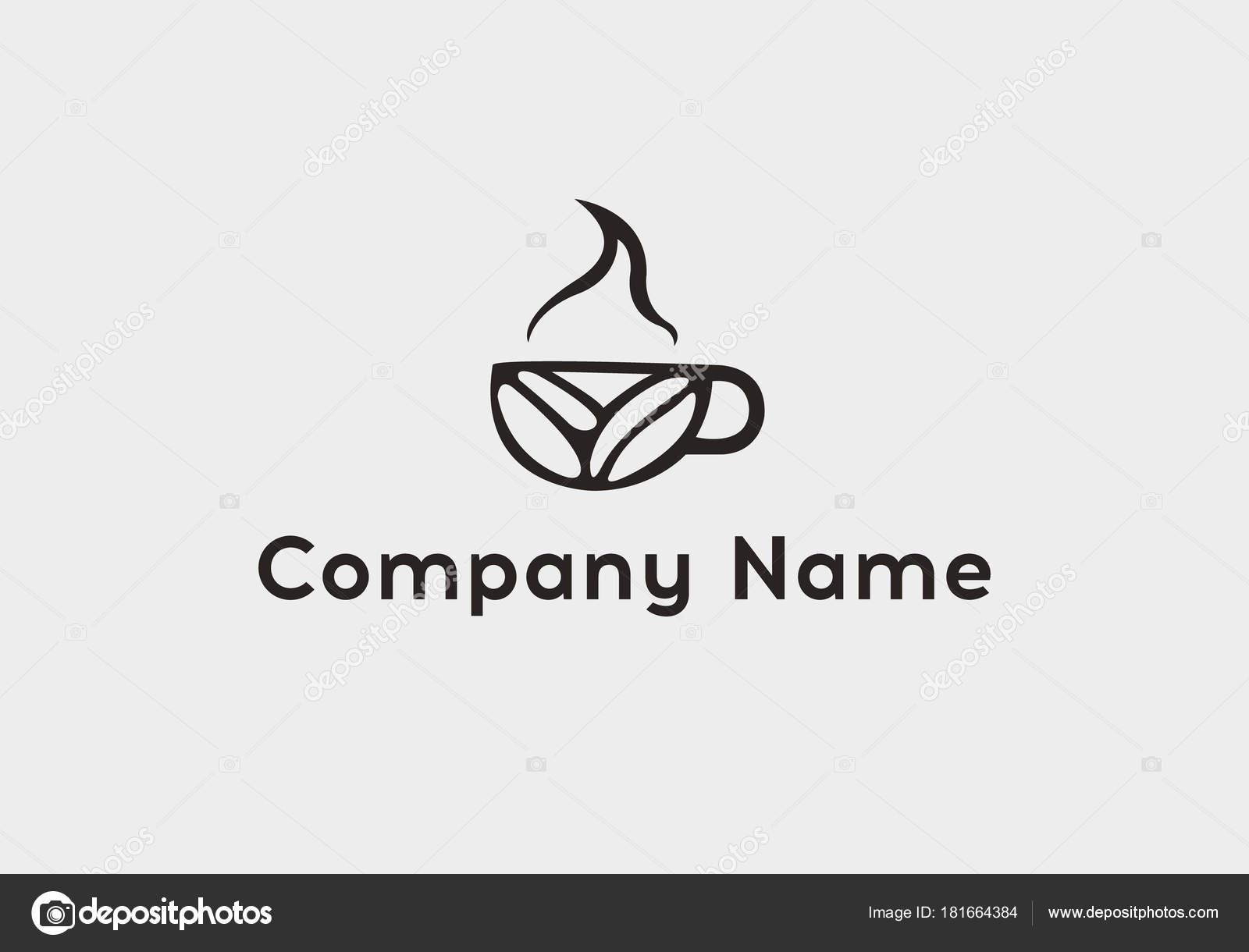 Coffee-Shop-Logo Vorlage, natürliche abstrakten Kaffeetasse mit ...