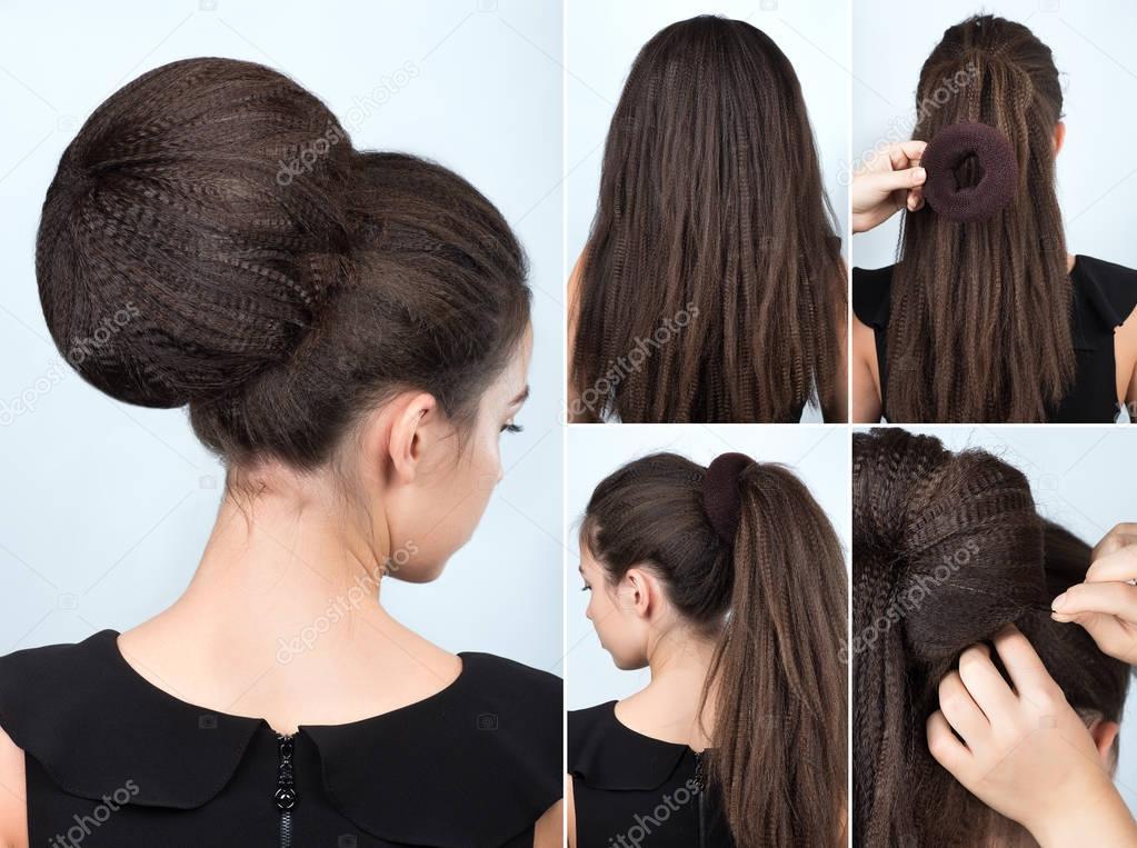 Souvent tutorial coiffure avec chignon — Photo #129929554 RS93