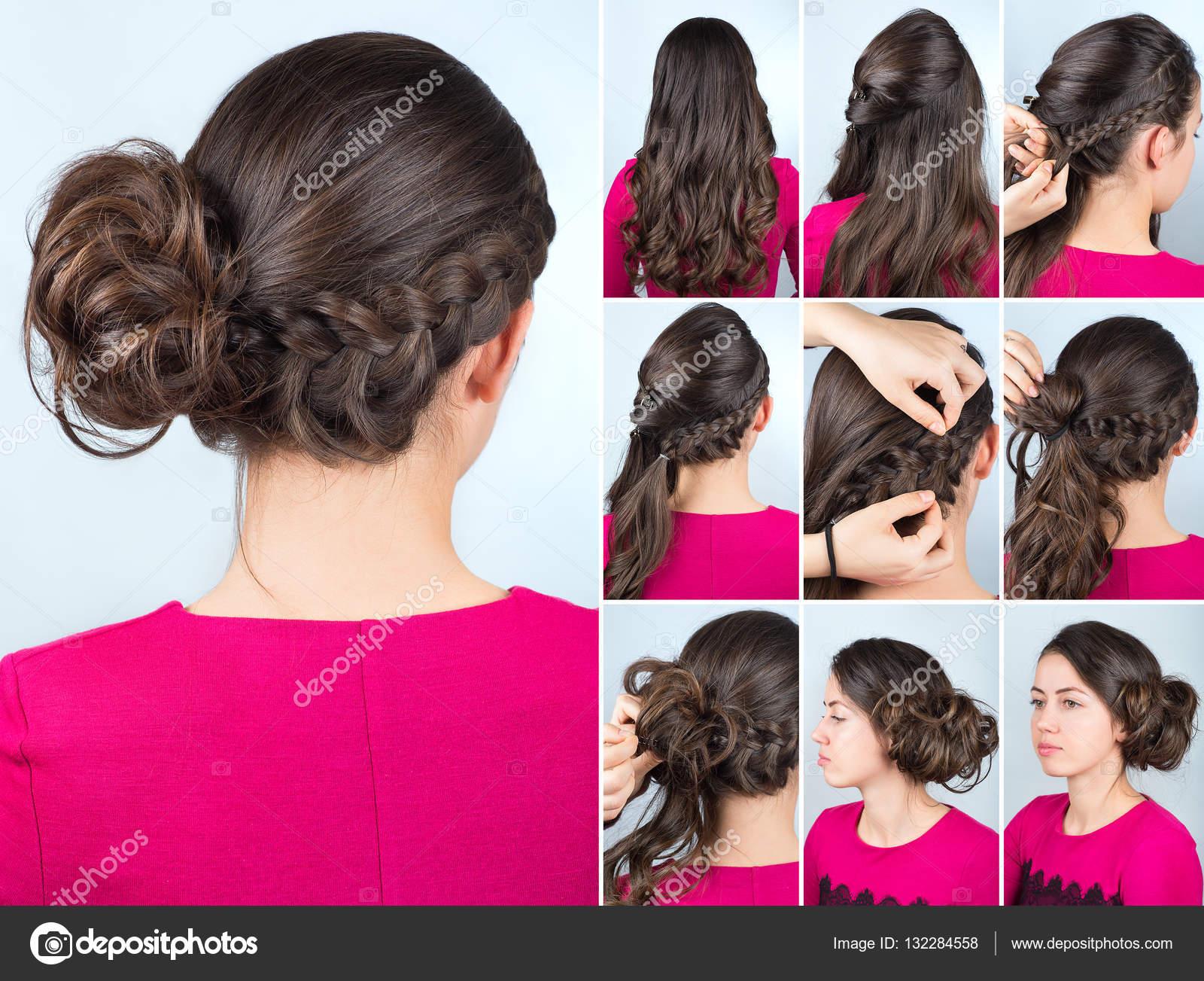 Coiffure tresse pour cheveux boucles