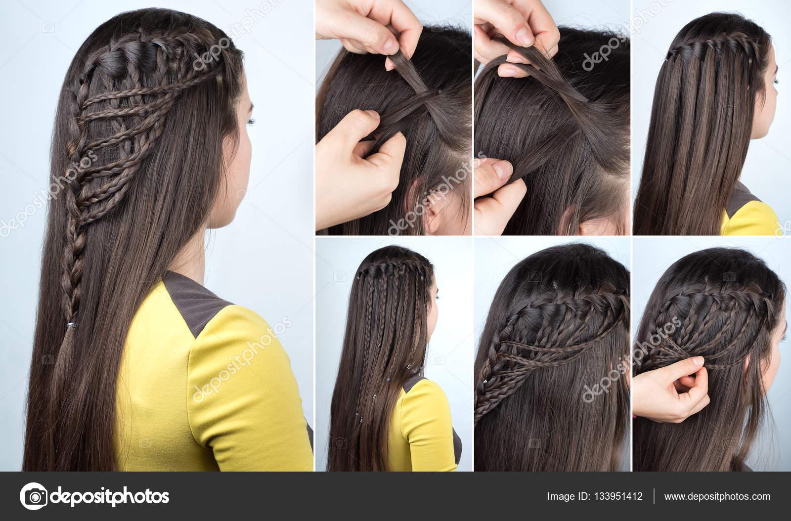 Peinado Trenzas Tutorial Fotos De Stock C Alterphoto 133951412