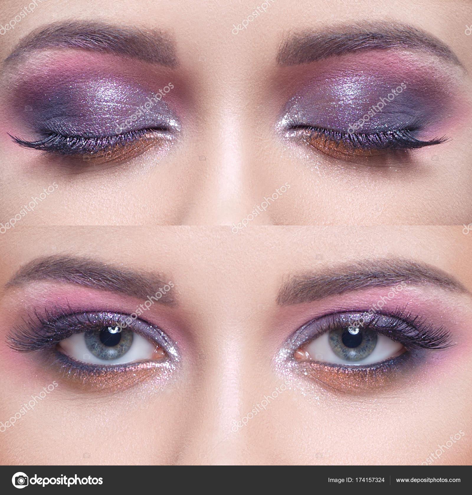 Make Up Für Blaue Augen Stockfoto Alterphoto 174157324