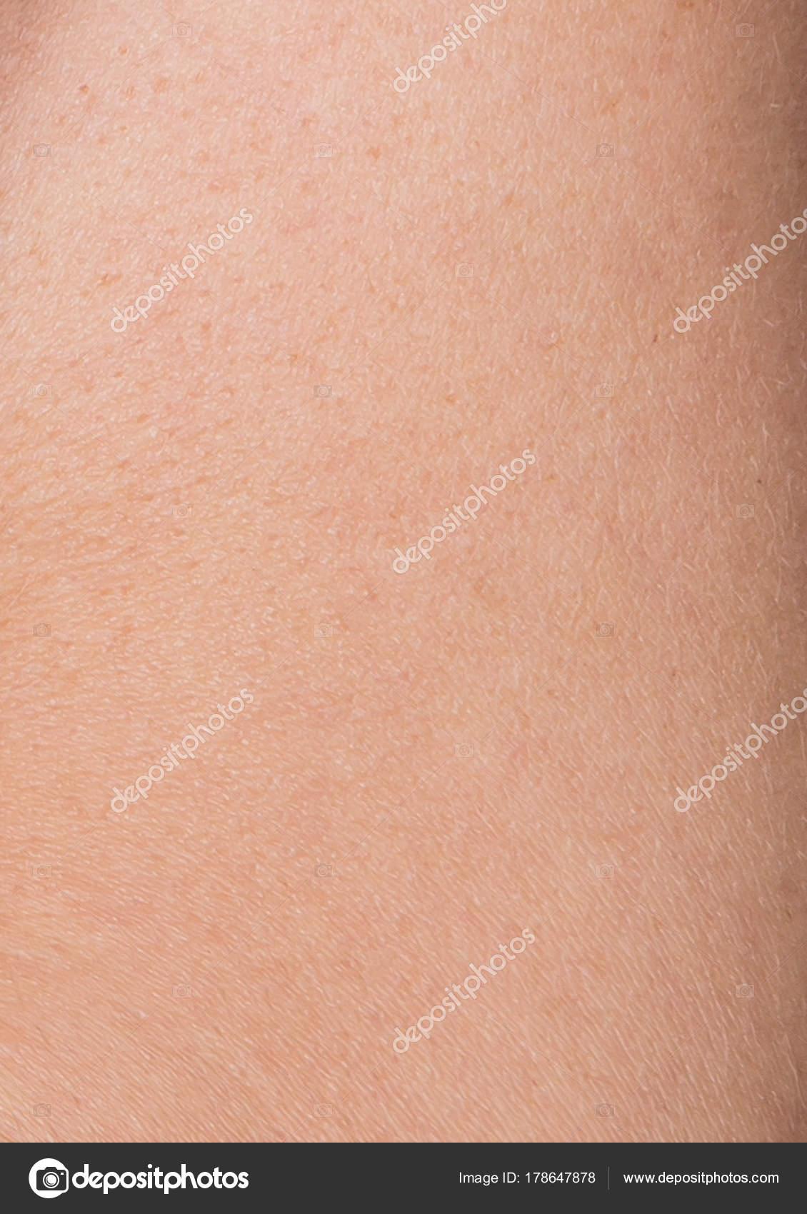 Macro del patrón de la piel del abdomen humano con células y líneas ...