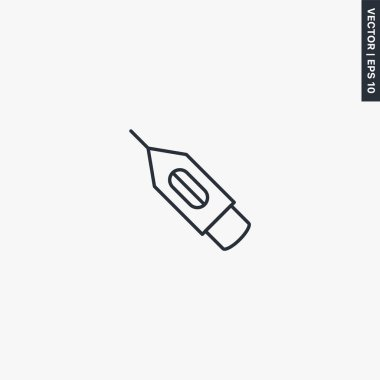 Needle tattoo, linear style sign for mobile concept and web design. Symbol, logo illustration. Pixel perfect vector graphics icon