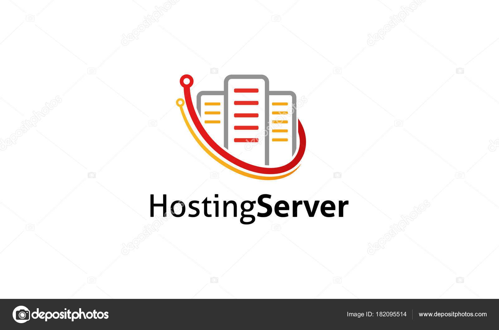 Hosting Server Logo Vorlage — Stockvektor © ft-studio #182095514