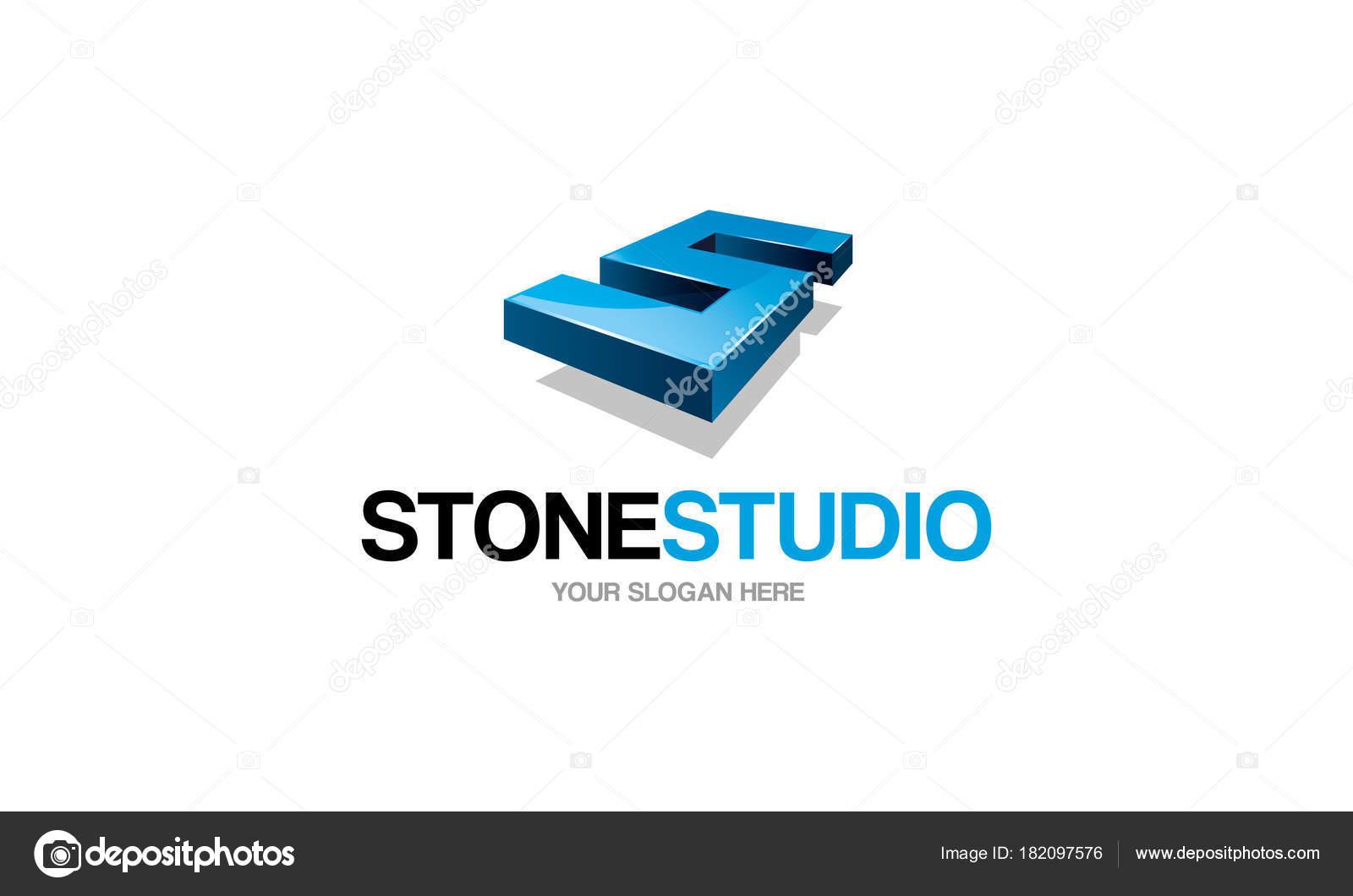 Stein Studio Logo Vorlage — Stockvektor © ft-studio #182097576