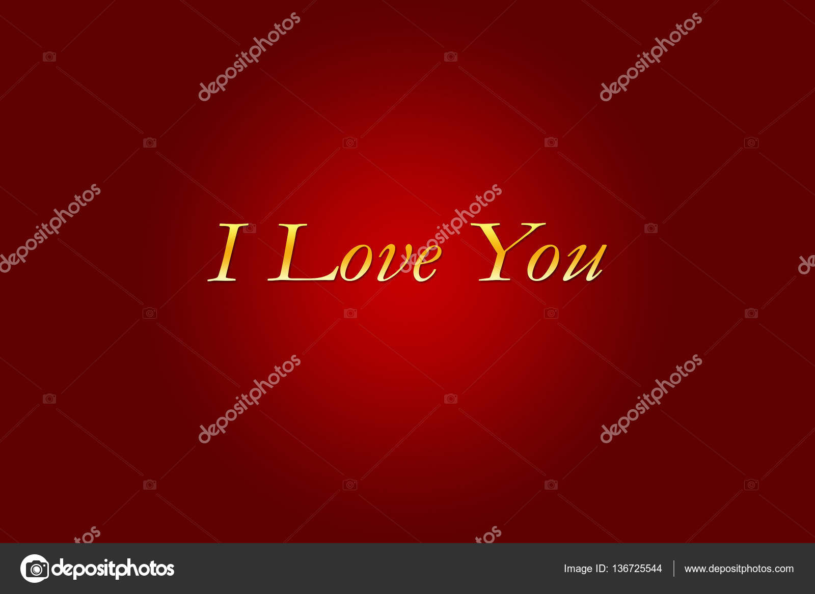 I Love U Word Written On Red Background For Valentines Day Stock Photo