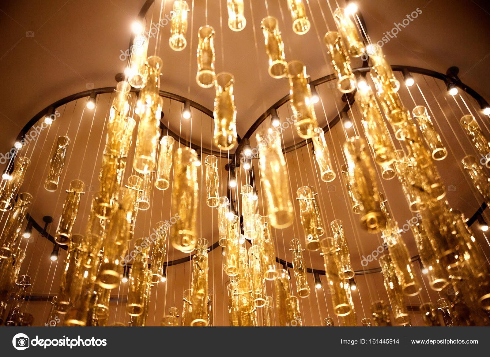 Kronleuchter Für Hotel ~ Großhandel neu lotus flower gold kristall anhänger kronleuchter
