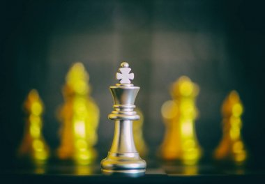 Chess pieces placed on top of a board