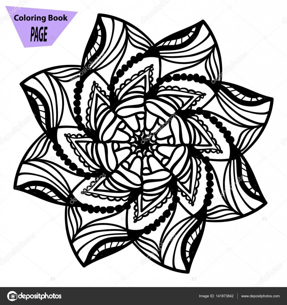 Mandala. Página para colorear. Elementos decorativos vintage. Modelo ...