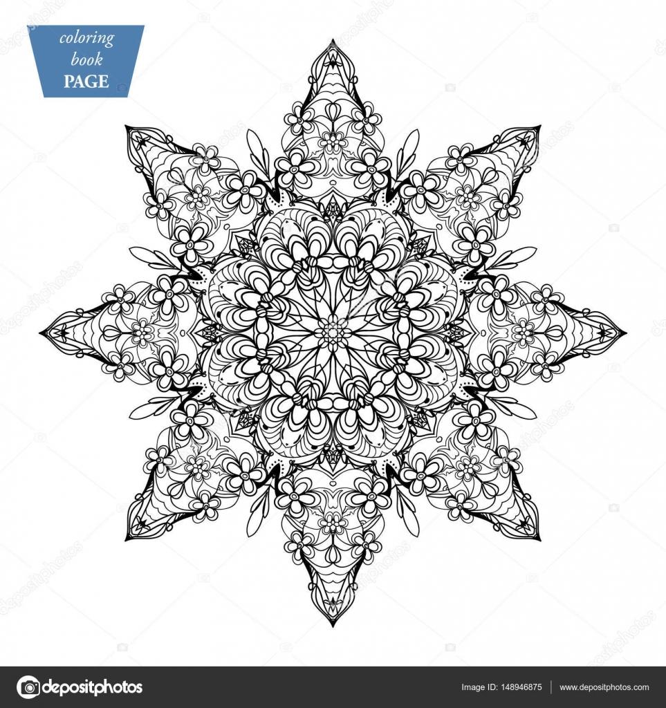 Mandala Malvorlagen Vintage Deko Elemente Orientalische