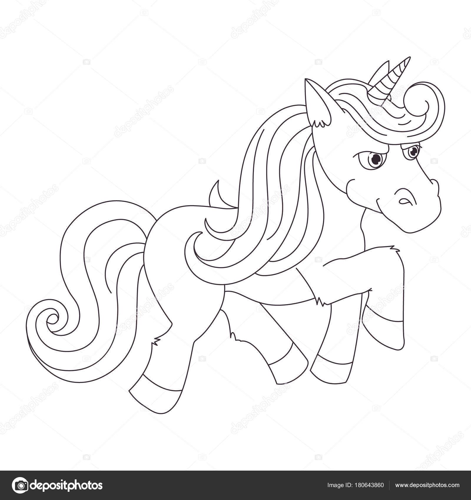 Unicornio, Ilustración lino dibujado a mano vector logotipo, libro ...